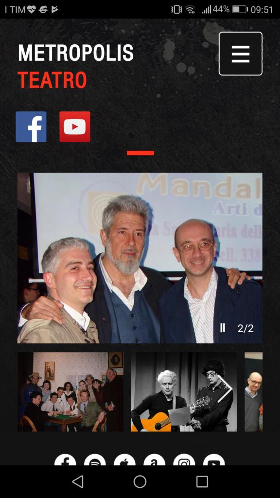 www.teatro-metropolis.com IL NUOVO SITO METROPOLIS